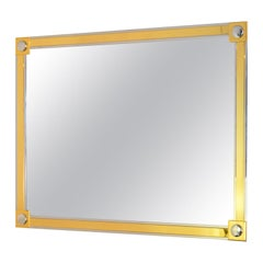 Modern Brass and Chrome Wall Mirror