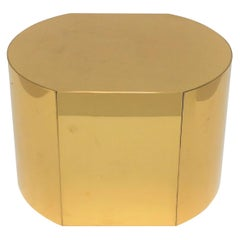 Modern Brass Pedestal Stand or Pedestal Side Table