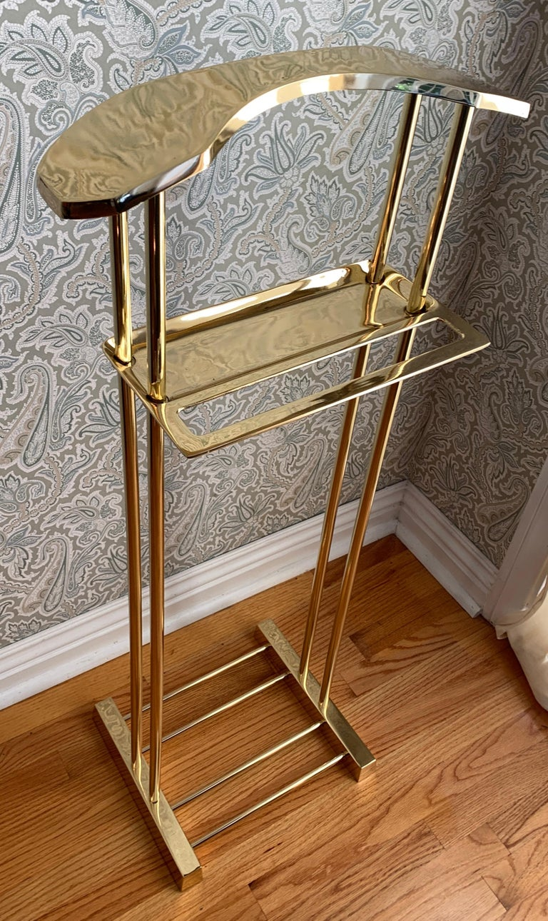 Plated Modern Brass Valet For Sale