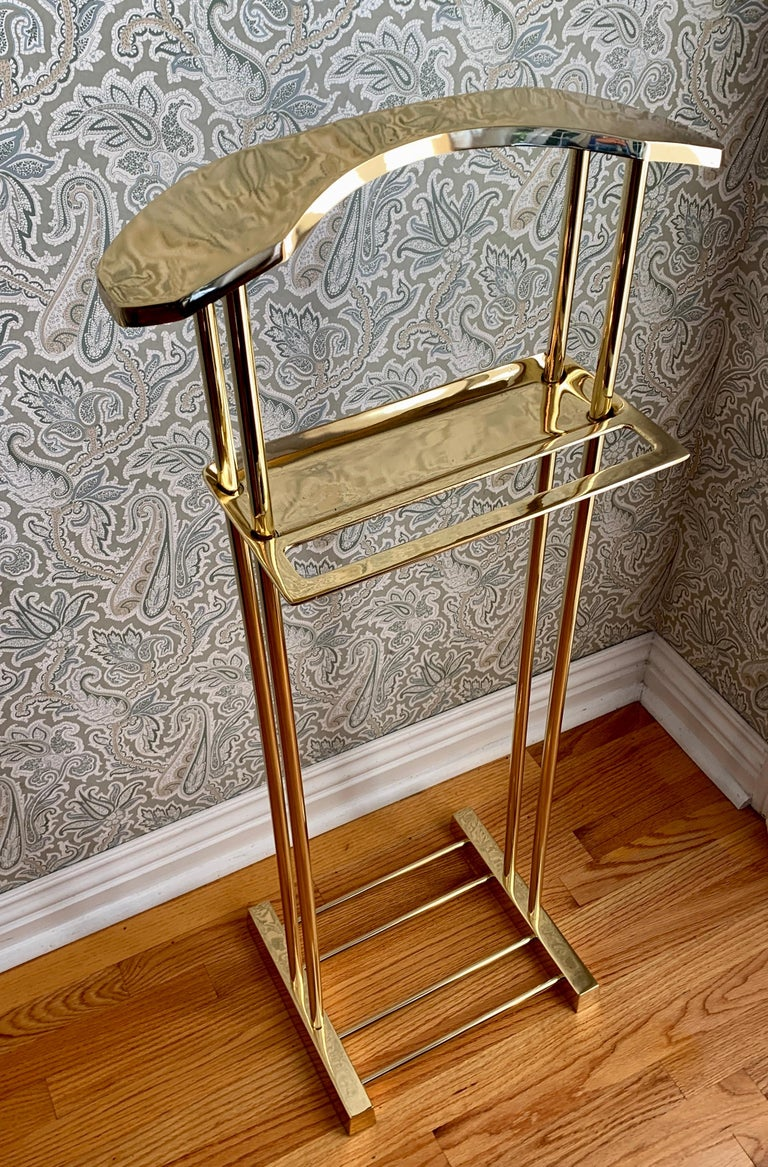 Modern Brass Valet In Good Condition For Sale In Los Angeles, CA