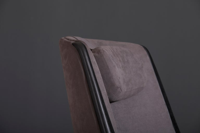 Modern Brazilian Armchair in Solid Wood, Textiles or Leathers For Sale 10