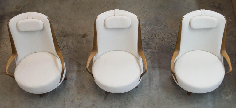 Modern Brazilian Armchair in Solid Wood, Textiles or Leathers For Sale 3