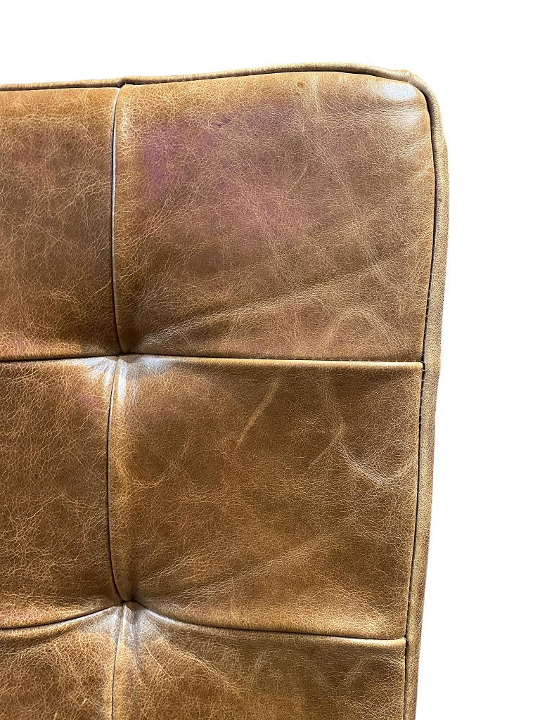 Modern Brazilian Brown Leather Low Lounge Chair by Fernando Jaeger For Sale 4