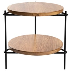 "Minimalis Brazilian side table in solid wood  ""Janice"" by Samuel Lamas"