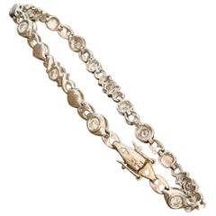 Modern Brilliant Cut Diamond 18 Karat Yellow Gold Bracelet