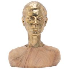 Modern Bronze & Mahogany Sculpture Developed by Universal Providers Studio, 2015