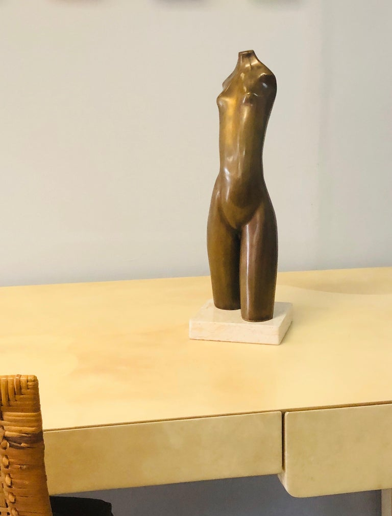 Modern Bronze Nude Sculpture by Hagar In Good Condition For Sale In Miami, FL