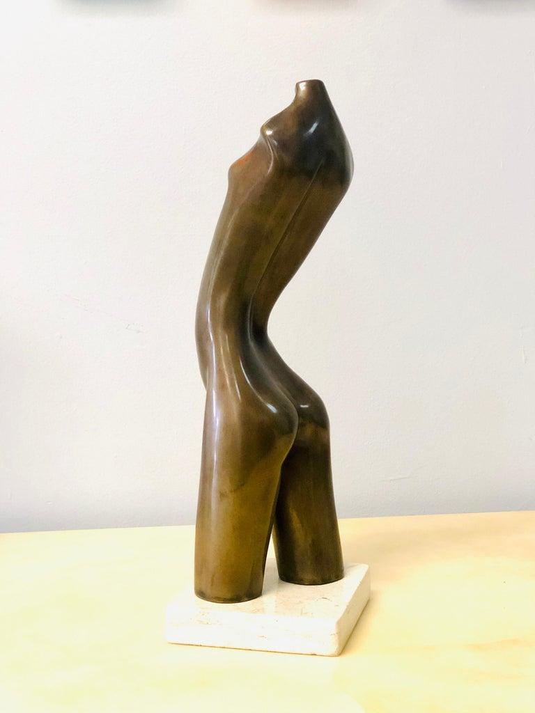 Modern Bronze Nude Sculpture by Hagar For Sale 1
