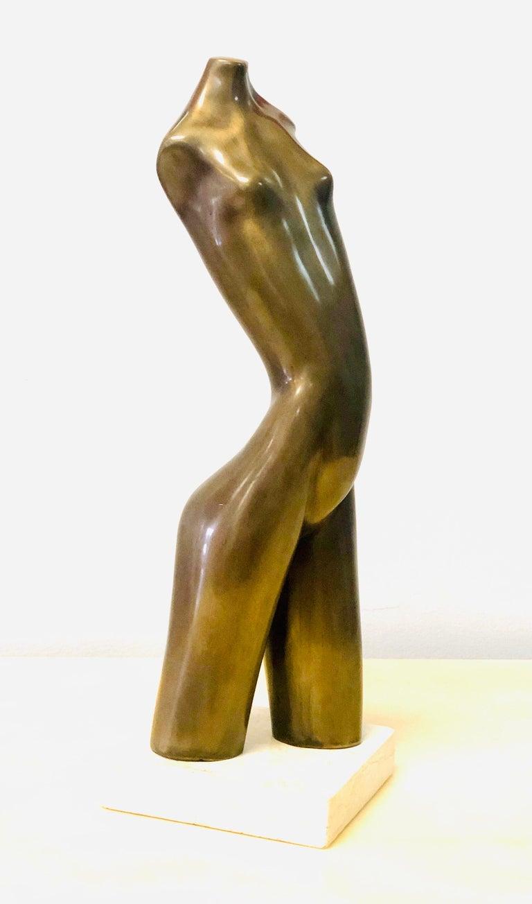 Modern Bronze Nude Sculpture by Hagar For Sale 2