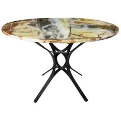 Modern Dunbar Bronze & Onyx Center Table Roger Sprunger Sculptural 1960s Wormley