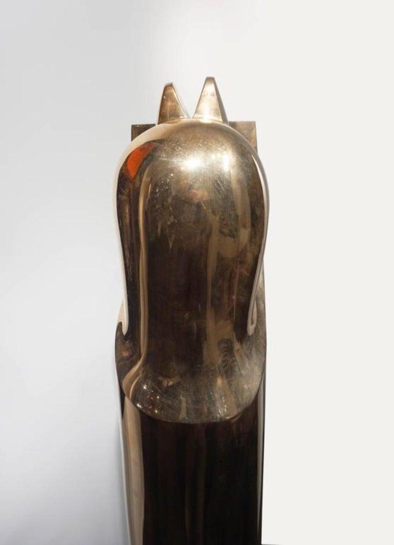 Modern Bronze Sculpture by Émile Gilioli, Apparition Architecturale For Sale 1