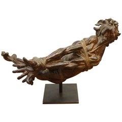 Modern Bronze Sculpture of a Bound Man