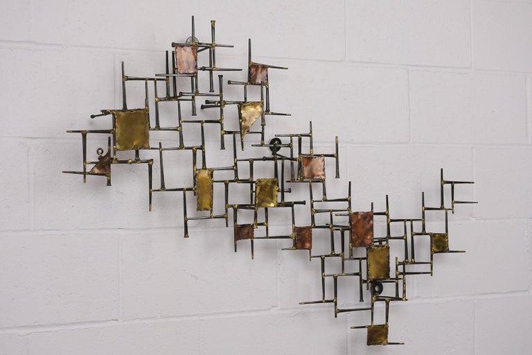 Modern Brutalist Style Art Wall Sculpture For Sale 1