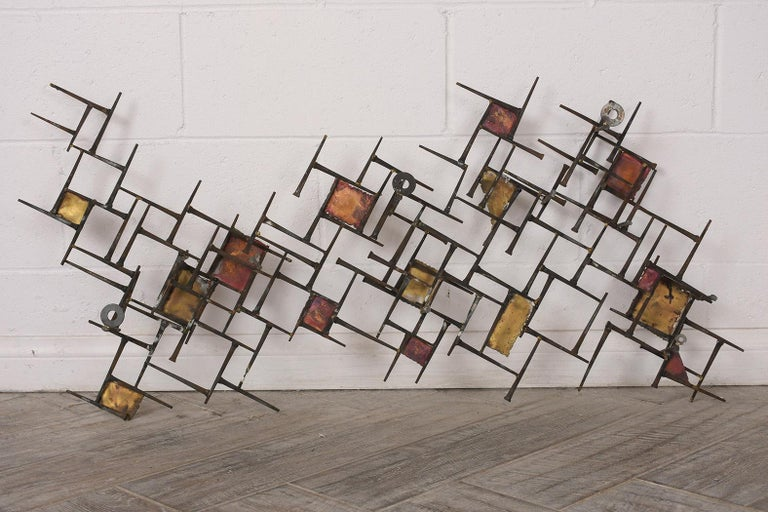 Modern Brutalist Style Art Wall Sculpture For Sale 2