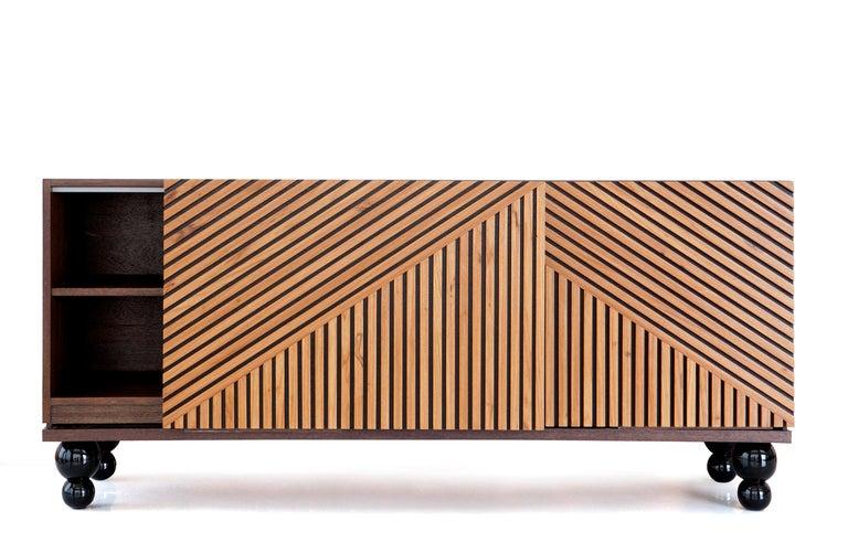 Woodwork Modern Buffet Handcrafted in Brazilian Hardwood, Aladin For Sale