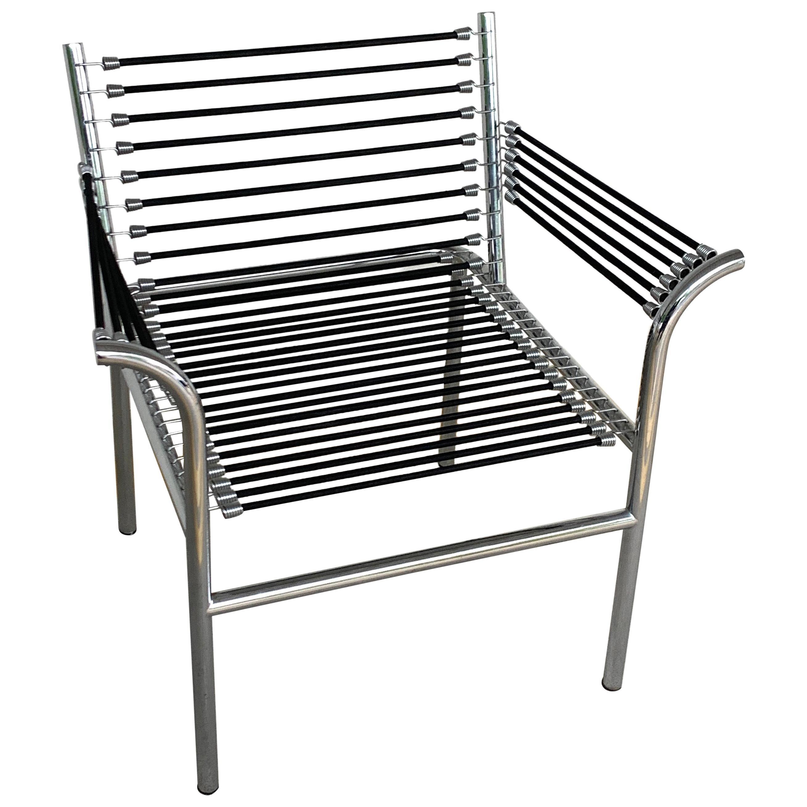 Modern Bungee Armchair after René Herbst