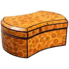 Modern Burl Veneer Covered Dresser Box