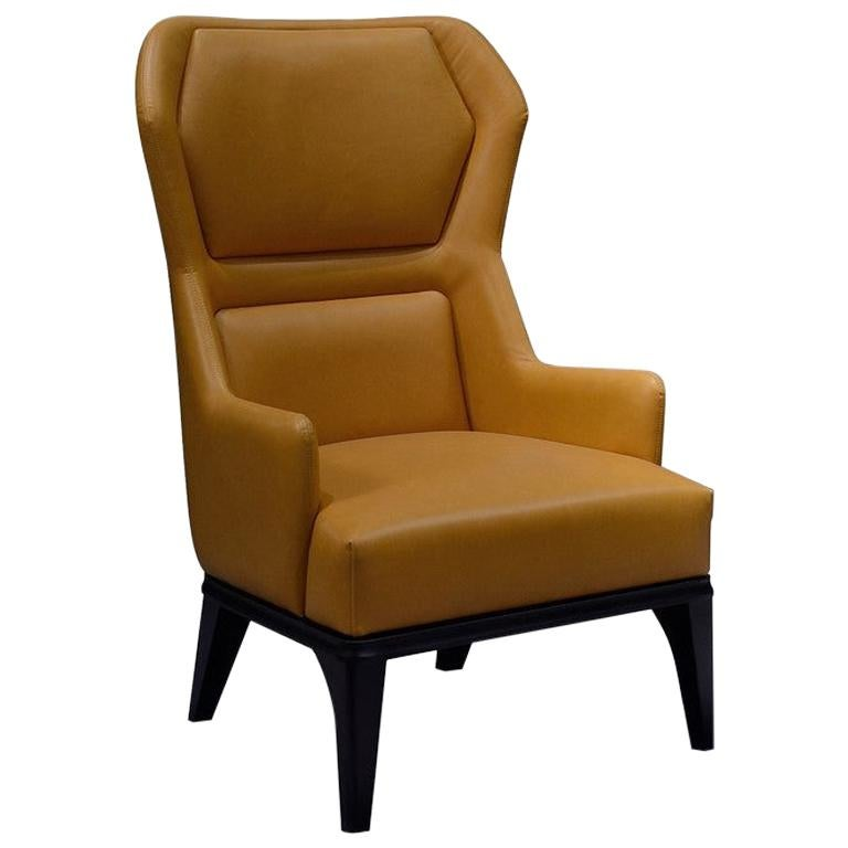 Modern by Giuseppe Carpanelli 2019 Relax Armchair with Leather