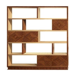 Modern by Giuseppe Carpanelli Desyo Bookcase in Canaletta Walnut