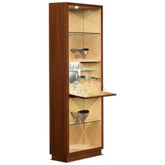 Modern by Giuseppe Carpanelli Desyo Cabinet Bar Version with Doors in Canaletta