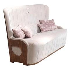 Modern by Giuseppe Carpanelli Galileo 3 Seats Sofa Back in Canaletta Walnut