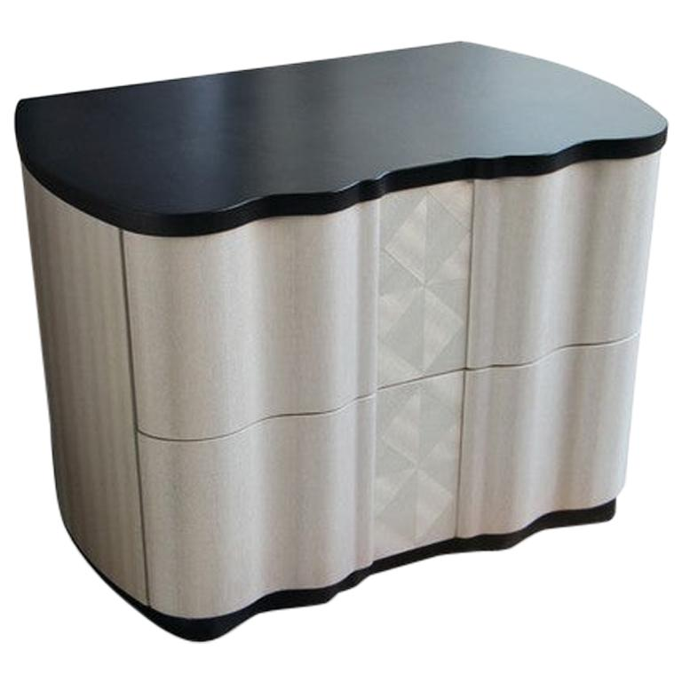 Modern by Giuseppe Carpanelli Mistal Bedside Table in Pama Wood