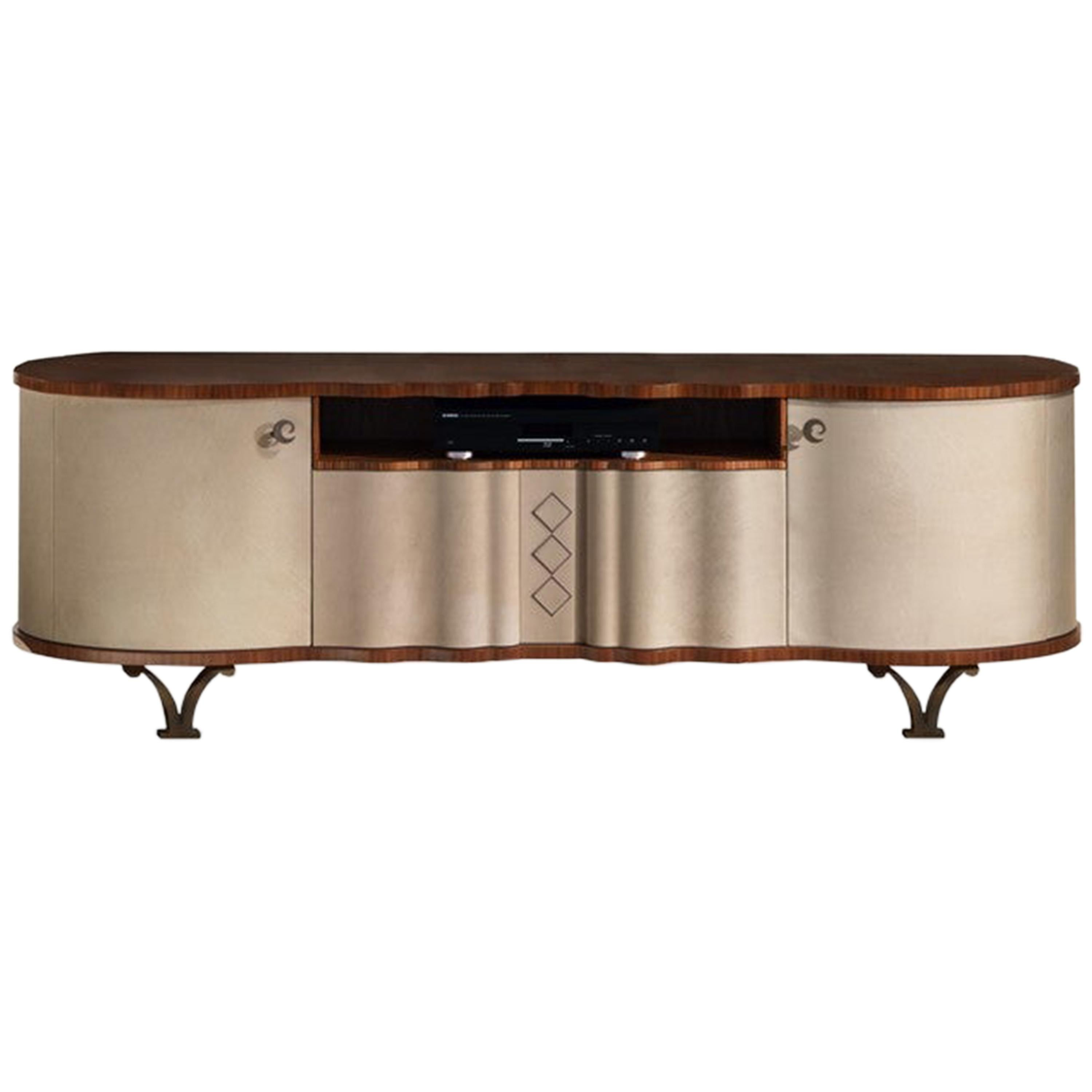 Modern by Giuseppe Carpanelli Mistral Coated TV Cabinet in Canaletta Walnut