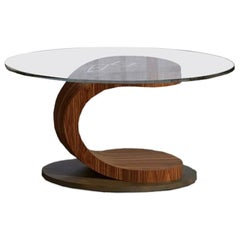 Modern by Giuseppe Carpanelli Mistral Round Coffee Table Canaletta Walnut