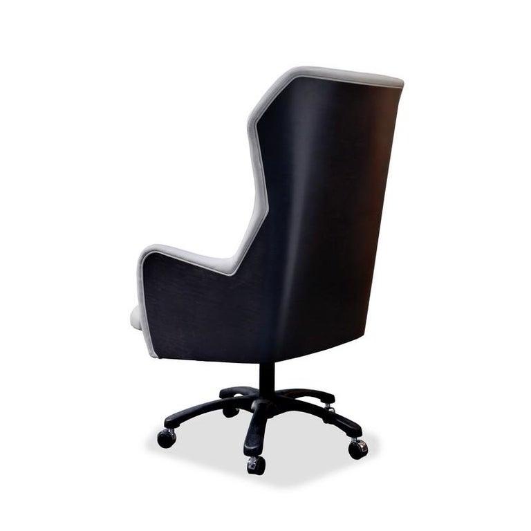 Italian Modern by Giuseppe Carpanelli Office Armchair 2019 Sycomoro Dark Wood For Sale