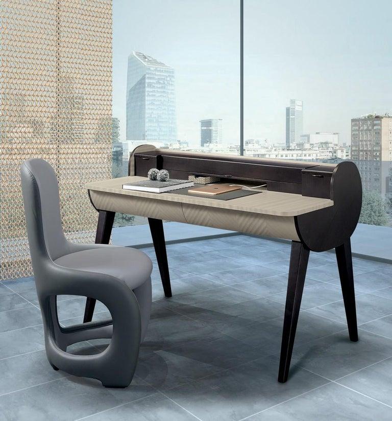 Italian Modern by Giuseppe Carpanelli Venere Padded Dining Chair For Sale