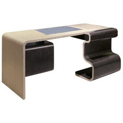 Modern by Giuseppe Carpanelli Wave Writing Desk in Pama and Sycomore