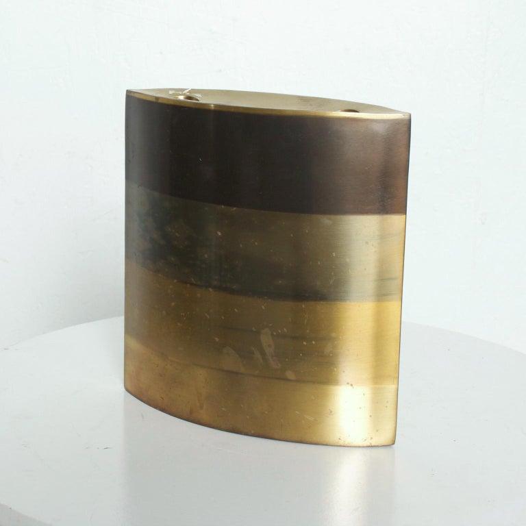 American Modern Brass Candle Holder, Vase, Sculptural Bronze, by Michael Aram For Sale