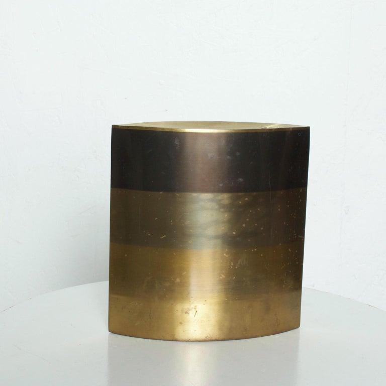 Modern Brass Candle Holder, Vase, Sculptural Bronze, by Michael Aram For Sale 2