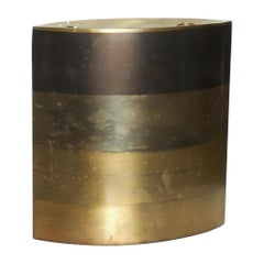Modern Brass Candle Holder, Vase, Sculptural Bronze, by Michael Aram