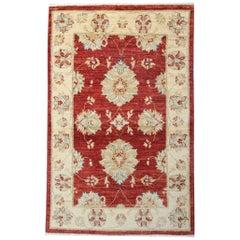 Modern Carpet Saltanabad Floral Rug- Red Ziegler Style Living Room Rug