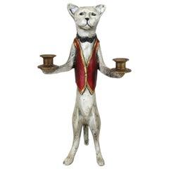 Modern Cat Butler Candleholder
