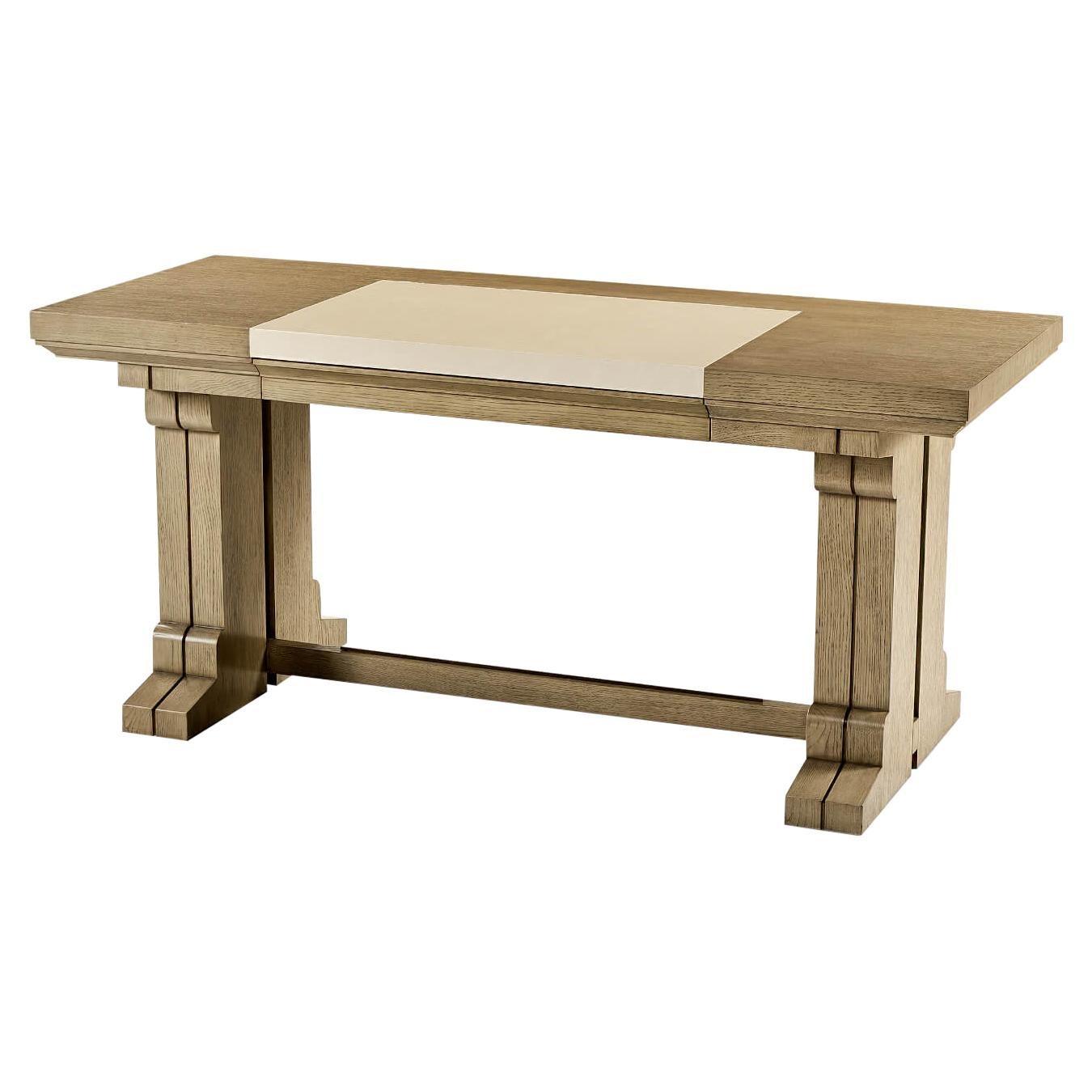 Modern Cerused Oak Desk