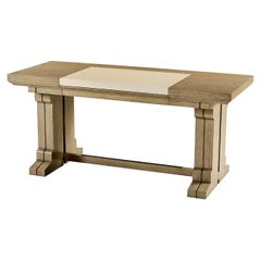Modern Cerused Oak Desk
