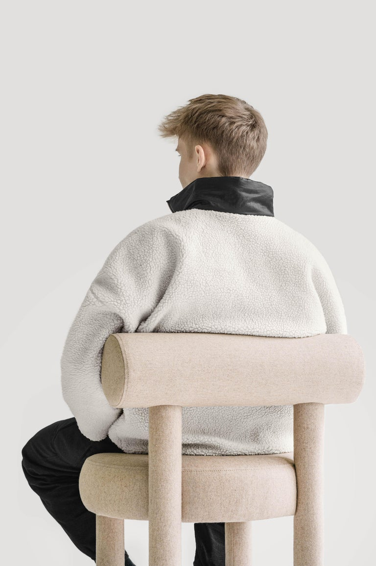 Modern Chair Gropius CS1 in Wool Fabric by Noom For Sale 1