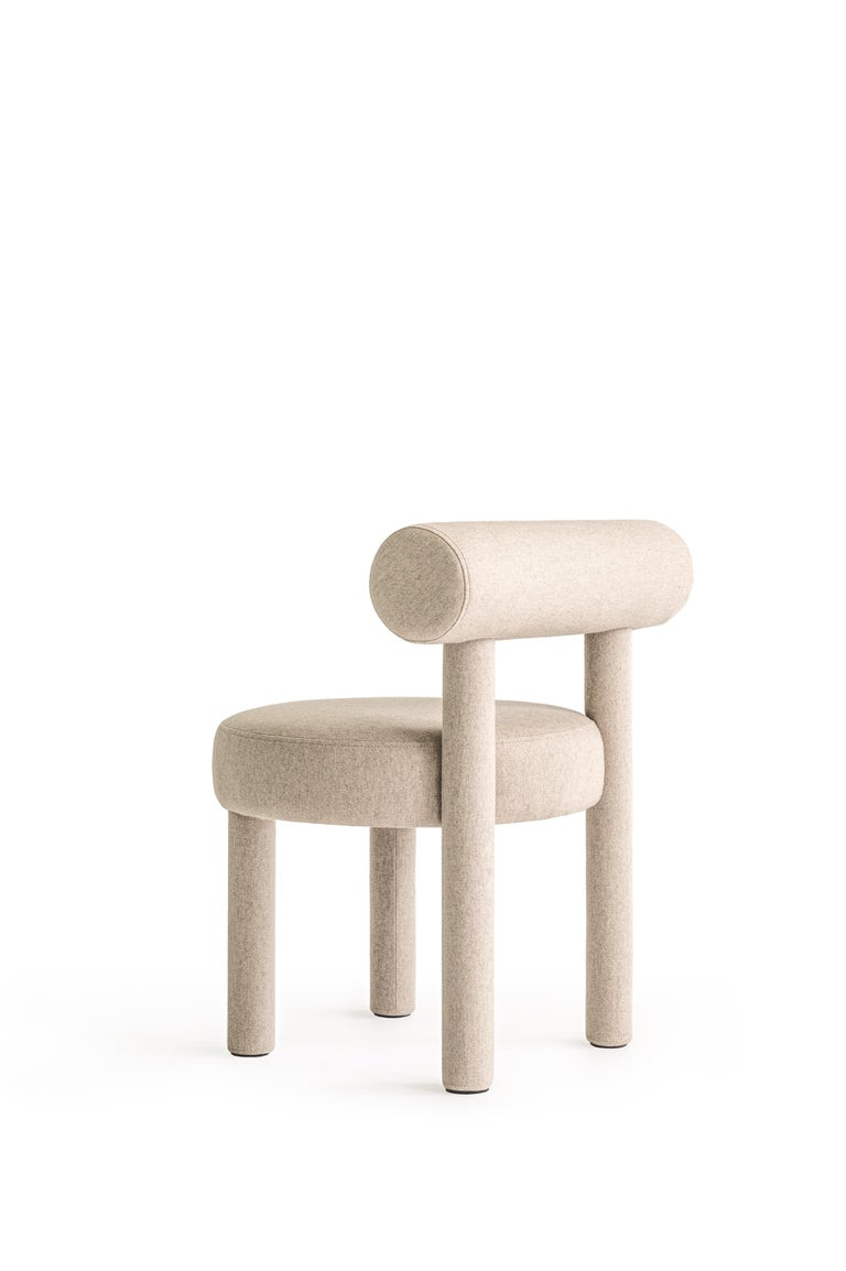 Modern Chair Gropius CS1 in Wool Fabric by Noom For Sale 9