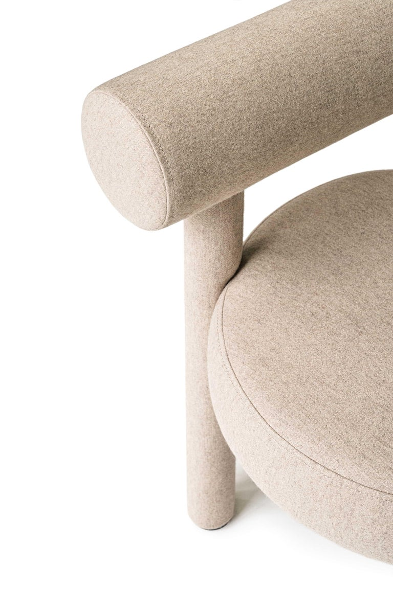 Modern Chair Gropius CS1 in Wool Fabric by Noom For Sale 4
