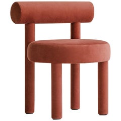 Modern Chair Gropius CS1 in Velvet Fabric by Noom