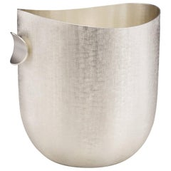 Modern Champagne Bucket, Silver Plated