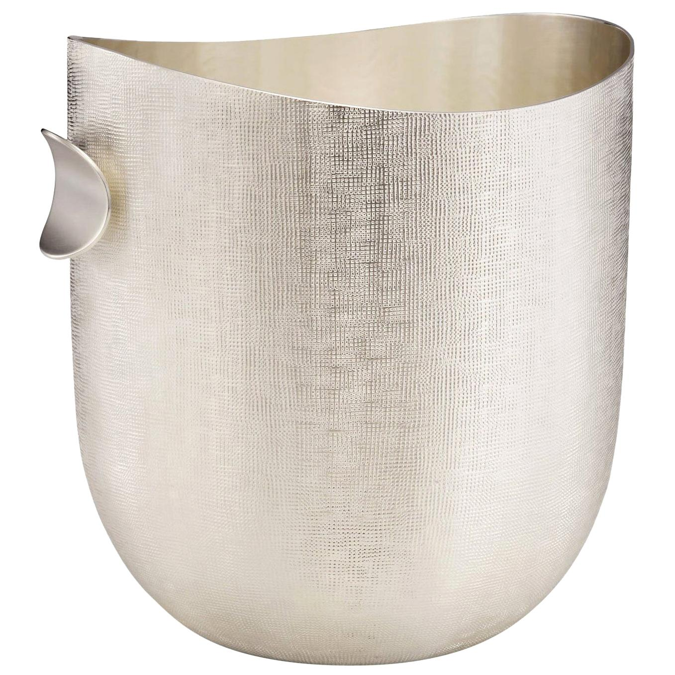 Modern Champagne Bucket, Horizon collection Silver Plated