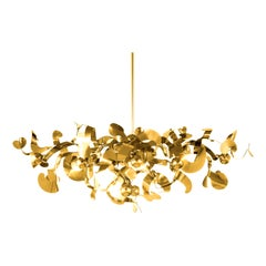 Modern Chandelier in a Brass Finish, Kelp Collection, by Brand van Egmond