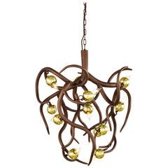 Modern Chandelier in a Bronze Finish, Eve Collection, by Brand van Egmond