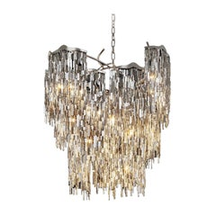 Modern Chandelier in a Conical Shape and in a Nickel Finish, Arthur Collection