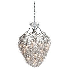 Modern Chandelier in a Nickel Finish, Hollywood Collection, by Brand van Egmond