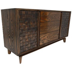 Modern Checkered Credenza by Paul Laszlo for Brown Saltman Midcentury, 1955