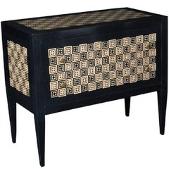 Modern Chest with Ebony and Ivory Diamond Shaped Inlay - FREE LOCAL DELIVERY